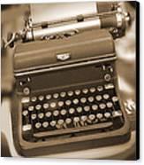 Royal Typewriter Canvas Print
