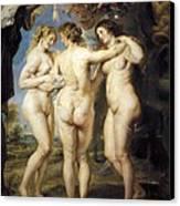 Rubens, Peter Paul 1577-1640. The Three Canvas Print by Everett