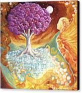 Ruby Tree Spirit Canvas Print by Valerie Graniou-Cook