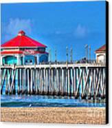 Ruby's Surf City Diner - Huntington Beach Pier Canvas Print by Jim Carrell