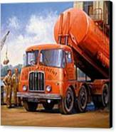 Rugby Cement Thornycroft. Canvas Print by Mike  Jeffries