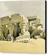 Ruins Of The Temple Of Kom Ombo Canvas Print by David Roberts