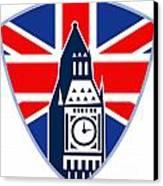 Runner Sprinter Start British Flag Shield Canvas Print