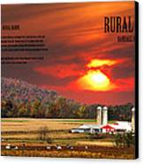 Rural Barns By Randall Branham Canvas Print