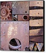 Rust And Metal Abstract  Canvas Print