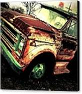 Rusted And Busted Canvas Print by Denisse Del Mar Guevara