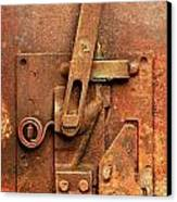 Rusted Latch Canvas Print by Jim Hughes