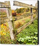 Rustic Landscapes - Broken Fence Canvas Print