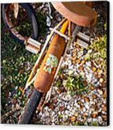 Rusty Bike Bumper Canvas Print