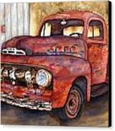 Rusty Crusty Ford Truck Canvas Print