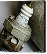 Rusty Old Spark Plug  5  Canvas Print by Wilma  Birdwell