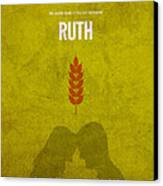 Ruth Books Of The Bible Series Old Testament Minimal Poster Art Number 8 Canvas Print