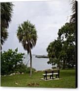 Ryckman Park In Melbourne Beach Florida Canvas Print by Allan  Hughes