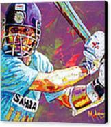 Sachin Tendulkar Canvas Print by Maria Arango