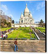 Sacre Coeur - Basilica Overlooking Paris Canvas Print