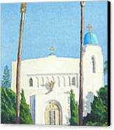 Sacred Heart Church Coronado Canvas Print by Mary Helmreich