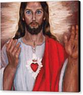 Sacred Heart Of Jesus Canvas Print by Terry Sita