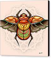 Sacred Scarab Canvas Print by Matt Truiano