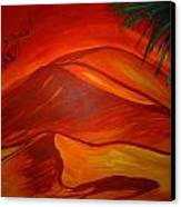 Sahara Kubry Canvas Print by Haleema Nuredeen