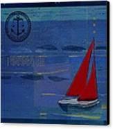 Sail Sail Sail Away - J173131140v02 Canvas Print by Variance Collections