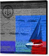 Sail Sail Sail Away - J179176137-01 Canvas Print by Variance Collections