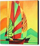 Sail To Shore Canvas Print by Tracey Harrington-Simpson