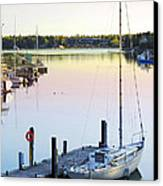 Sailboat At Sunrise Canvas Print