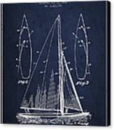 Sailboat Patent Drawing From 1927 Canvas Print