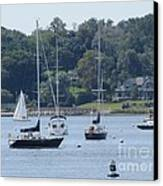 Sailboat Serenity Canvas Print by Debbie Nester