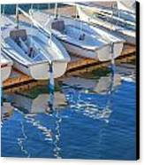 Sailboats And Dock Canvas Print by Cliff Wassmann