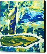 Sailboats On Charles River Canvas Print by Alexandra Jordankova