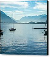 Sailboats On Como Canvas Print