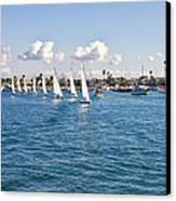 Sailing Canvas Print by Angela A Stanton
