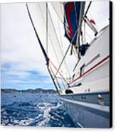 Sailing Bvi Canvas Print by Adam Romanowicz