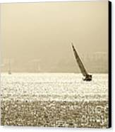 Sailing In San Diego Harbor Canvas Print by Artist and Photographer Laura Wrede