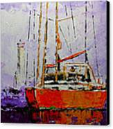 Sailing In The Mist Canvas Print by Vickie Warner