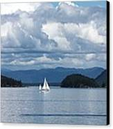 Sailing In The San Juans Canvas Print by Carol Groenen