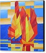 Sailing On The Seven Seas So Blue Canvas Print by Tracey Harrington-Simpson