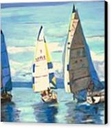 Sailing Regatta At Port Hardy Canvas Print