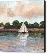 Sailing The Lagoon Canvas Print by William Killen