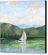 Sailing The Lake 1 Canvas Print