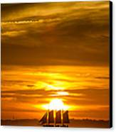 Sailing Yacht Schooner Pride Sunset Canvas Print