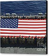 Sailors And Marines Display Canvas Print by Stocktrek Images