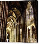 Saint Denis Cathedral Canvas Print by Olivier Le Queinec
