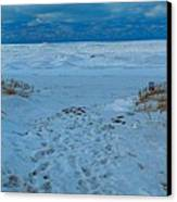 Saint Joseph Michigan Beach In Winter Canvas Print