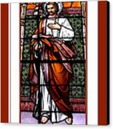 Saint Joseph  Stained Glass Window Canvas Print by Rose Santuci-Sofranko