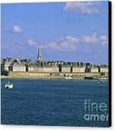 Saint Malo. Ille Et Vilaine. Brittany. Bretagne. France. Europe Canvas Print by Bernard Jaubert
