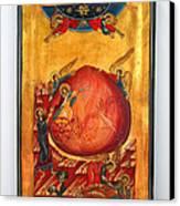 Saint Prophet Elias Hand Painted Russian Byzantine Icon  Canvas Print by Denise Clemenco