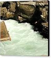 Salmon Fishing Platforms Canvas Print by Mamie Gunning
