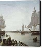 Salmon, Robert 1775-1845. Boston Canvas Print